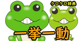 一挙一動(いっきょいちどう)